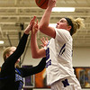 12-14-17<br /> Northwestern vs Heritage Christian girls basketball<br /> Taylor Boruff shoots.<br /> Kelly Lafferty Gerber | Kokomo Tribune