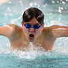 12-6-17<br /> Kokomo swimming<br /> Christian Abney  in the boys 100 yard butterfly.<br /> Kelly Lafferty Gerber | Kokomo Tribune