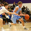 12-15-17<br /> Northwestern vs Maconaquah boys basketball<br /> Mac's Chandler Pitts dribbles around NW's defense.<br /> Kelly Lafferty Gerber | Kokomo Tribune