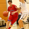 12-2-17<br /> Kokomo vs Peru girls basketball<br /> Kirstin Pierce dribbles down the court.<br /> Kelly Lafferty Gerber | Kokomo Tribune