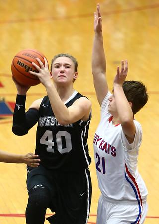 12-5-17<br /> Kokomo vs Western girls basketball<br /> Western's Anna Betz puts up a shot.<br /> Kelly Lafferty Gerber | Kokomo Tribune