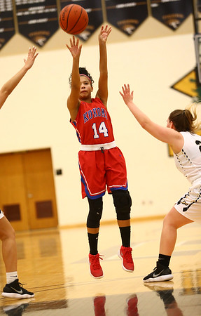12-2-17<br /> Kokomo vs Peru girls basketball<br /> Victoria Watkins shoots.<br /> Kelly Lafferty Gerber | Kokomo Tribune