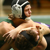 12-28-17<br /> Eastern wrestling classic<br /> Eastern's Aren Turner takes down NW's Conner Barlow in the 145.<br /> Kelly Lafferty Gerber | Kokomo Tribune
