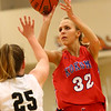 12-2-17<br /> Kokomo vs Peru girls basketball<br /> Brittany Barnard puts up a shot.<br /> Kelly Lafferty Gerber | Kokomo Tribune