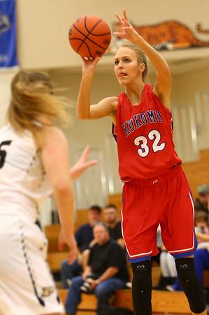 12-2-17<br /> Kokomo vs Peru girls basketball<br /> Brittany Barnard puts up a shot.<br /> Kelly Lafferty Gerber | Kokomo Tribune