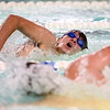 12-6-17<br /> Kokomo swimming<br /> Christian Abney  in the boys 200 yard freestyle.<br /> Kelly Lafferty Gerber | Kokomo Tribune