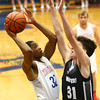12-5-17<br /> Kokomo vs Western boys basketball<br /> Deonta Chamberlain puts up a shot.<br /> Kelly Lafferty Gerber | Kokomo Tribune