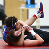 12-19-17<br /> Kokomo vs Northwestern wrestling<br /> Kokomo's Zane Hall defeats NW's Conner Barlow in the 145.<br /> Kelly Lafferty Gerber | Kokomo Tribune