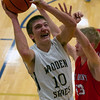 SECOND TEAM<br /> Brant Bueker<br /> <br /> Teutopolis • Senior guard/forward<br /> <br /> 2016-17 Statistics<br /> <br /> 14.1 PPG, 3.6 RPG, 2.3 APG, 1.5 SPG, 44 FG%, 32 3PT%, 73 FT%<br /> <br /> Awards/Honors<br /> <br /> All-Lawrence County Capital Classic Team, All-Effingham-Teutopolis Christmas Classic Team, All-Nashville Invitational Team, IBCA Class 1A/2A All-State Honorable Mention
