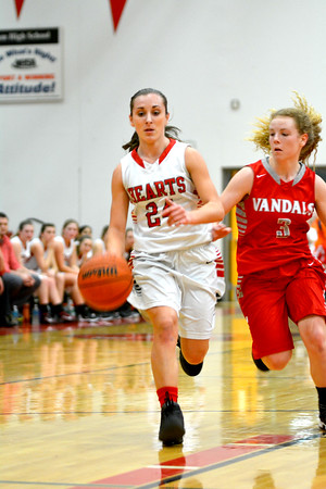 SECOND TEAM<br /> Miranda Fox<br /> <br /> Effingham • Sophomore guard<br /> <br /> 2016-17 Statistics<br /> <br /> 9.6 PPG, 4.9 RPG, 4.1 APG, 2.0 SPG, 48 FG%, 66 FT%, 33 3PT%<br /> <br /> Awards/Honors<br /> <br /> All-Bob Kerans Tournament Team, All-Effingham Round Robin Tournament, Second Team All-Apollo Conference