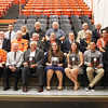 Star Photo/Bryce Phillips<br /> The 2017 Elizabethton High School Sports Hall of Fame class is pictured with fellow members of the Hall of Fame after Thursday night's induction ceremony.