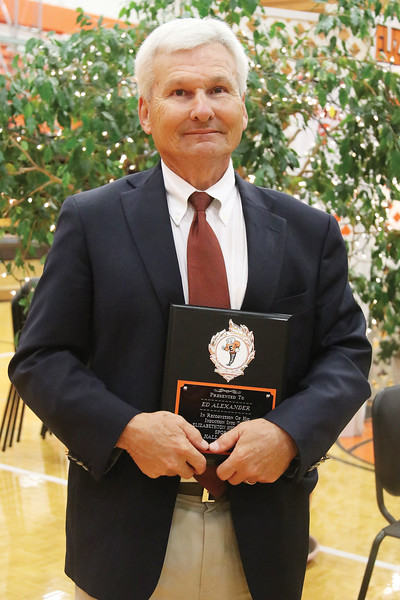 Ed Alexander—Football & Contributor—Graduated 1969<br /> For the Cyclones, Alexander was a three-year starter at both linebacker and kicker. He is a recipient of the Bulldog Laws Award. <br /> Alexander worked in the Elizabethton City School system from 1975 through 2015 during that time he was a teacher, coach, vice principal, principal, and the Elizabethton City Schools superintendent. He would play a crucial role in the construction of Citizens Bank Stadium and the new softball and baseball fields at T.A. Dugger Jr. High School.