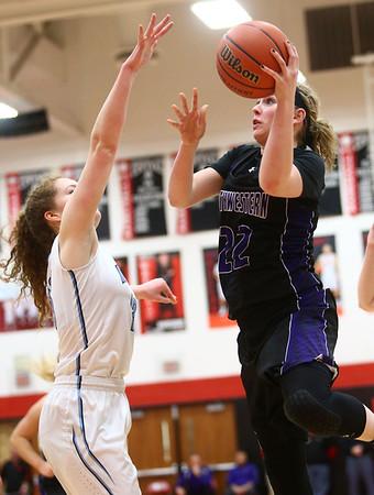2-11-17<br /> Northwestern vs South Bend St. Joseph girls bball regional<br /> NW's Taylor Boruff shoots.<br /> Kelly Lafferty Gerber | Kokomo Tribune