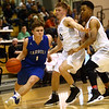 2-21-17<br /> Western vs Carroll boys basketball<br /> Carroll's Trey Filbrun tries to get around Western's defense.<br /> Kelly Lafferty Gerber | Kokomo Tribune