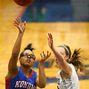 2-3-17<br /> Kokomo vs Zionsville girls basketball<br /> Kokomo's Tevin Deckard shoots.<br /> Kelly Lafferty Gerber | Kokomo Tribune