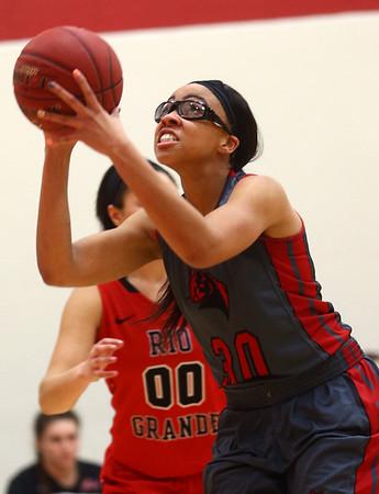 2-22-17<br /> IUK vs Rio Grande girls basketball<br /> IUK's Dejianna Butler looks to the basket for a shot.<br /> Kelly Lafferty Gerber | Kokomo Tribune