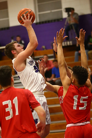 2-2-17<br /> Northwestern vs West Lafayette boys basketball<br /> NW's Noah Dowden goes up for a shot.<br /> Kelly Lafferty Gerber | Kokomo Tribune