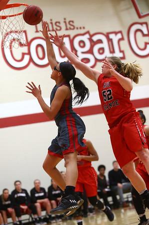 2-22-17<br /> IUK vs Rio Grande girls basketball<br /> IUK's Dejianna Butler shoots.<br /> Kelly Lafferty Gerber   Kokomo Tribune