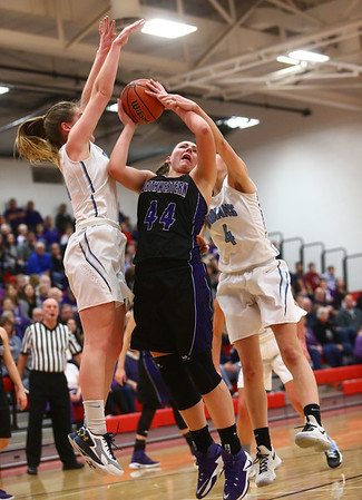 2-11-17 Northwestern vs South Bend St. Joseph girls bball regional  Kelly Lafferty Gerber   Kokomo Tribune