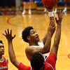 2-10-17<br /> Kokomo vs Richmond boys basketball<br /> Kokomo's Keenen Wheeler puts up a shot.<br /> Kelly Lafferty Gerber | Kokomo Tribune