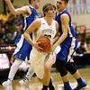 2-21-17<br /> Western vs Carroll boys basketball<br /> Western's Ashton Guyer looks to the basket.<br /> Kelly Lafferty Gerber | Kokomo Tribune