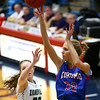 2-3-17<br /> Kokomo vs Zionsville girls basketball<br /> Kokomo's Brittany Barnard puts up a shot.<br /> Kelly Lafferty Gerber | Kokomo Tribune