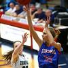 2-3-17<br /> Kokomo vs Zionsville girls basketball<br /> Kokomo's Brittany Barnard puts up a shot.<br /> Kelly Lafferty Gerber | Kokomo Tribune