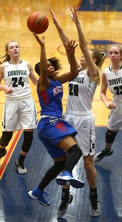 2-3-17<br /> Kokomo vs Zionsville girls basketball<br /> Kokomo's Tionna Brown puts up a shot.<br /> Kelly Lafferty Gerber | Kokomo Tribune