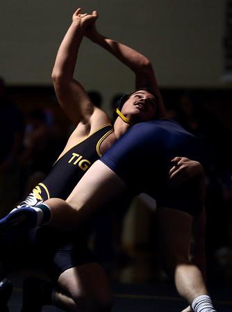 2-4-17<br /> Regional wrestling<br /> Peru's Jordan Rader and Oak Hill's Brody Hardcastle in the 170.<br /> Kelly Lafferty Gerber   Kokomo Tribune
