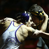 2-4-17<br /> Regional wrestling<br /> Peru's Carter Kintner and Marion's Lorenzo Trevino in the 138.<br /> Kelly Lafferty Gerber | Kokomo Tribune