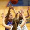 2-3-17<br /> Kokomo vs Zionsville girls basketball<br /> Kokomo's Tionna Brown looks to the basket for a shot among Zionsville's defense.<br /> Kelly Lafferty Gerber | Kokomo Tribune