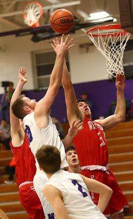 2-2-17<br /> Northwestern vs West Lafayette boys basketball<br /> NW's Trey Richmond goes up for a shot.<br /> Kelly Lafferty Gerber | Kokomo Tribune