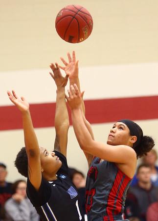 2-25-17<br /> IUK vs Ohio Christian girls basketball<br /> Deja Felder shoots.<br /> Kelly Lafferty Gerber | Kokomo Tribune