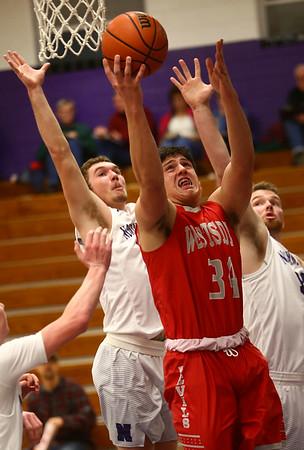 2-2-17<br /> Northwestern vs West Lafayette boys basketball<br /> WL's Matt Krause goes up for a basket.<br /> Kelly Lafferty Gerber | Kokomo Tribune