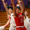 2-2-17<br /> Northwestern vs West Lafayette boys basketball<br /> WL's Matt Krause goes up for a basket.<br /> Kelly Lafferty Gerber | Kokomo Tribune