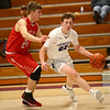 2-2-17<br /> Northwestern vs West Lafayette boys basketball<br /> NW's Peyton Hawk dribbles to the basket.<br /> Kelly Lafferty Gerber | Kokomo Tribune