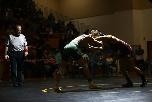 2-4-17<br /> Regional wrestling<br /> Eastern's Corbin Hetzner and Eastbrook's Christian Bratcher in the 152.<br /> Kelly Lafferty Gerber | Kokomo Tribune