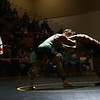 2-4-17<br /> Regional wrestling<br /> Eastern's Corbin Hetzner and Eastbrook's Christian Bratcher in the 152.<br /> Kelly Lafferty Gerber | Kokomo Tribune