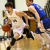 2-21-17<br /> Western vs Carroll boys basketball<br /> Western's Kaleb Howard dribbles down the court.<br /> Kelly Lafferty Gerber | Kokomo Tribune