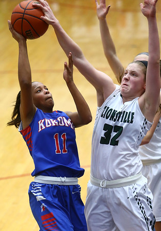 2-3-17<br /> Kokomo vs Zionsville girls basketball<br /> Kokomo's Tionna Brown puts up a shot.<br /> Kelly Lafferty Gerber | Kokomo Tribune