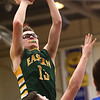 2-7-17<br /> Tipton vs Eastern boys basketball<br /> Eastern's Nolan Smalley puts up a shot.<br /> Kelly Lafferty Gerber | Kokomo Tribune