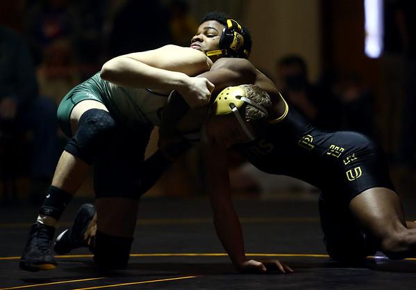 2-4-17<br /> Regional wrestling<br /> Eastern's Tytus Morrisett and Peru's Torion'Ja Forrest in the 132.<br /> Kelly Lafferty Gerber   Kokomo Tribune