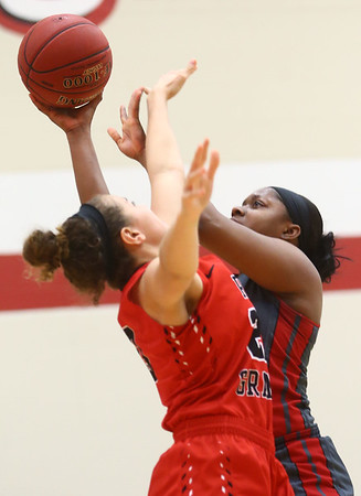 2-22-17<br /> IUK vs Rio Grande girls basketball<br /> IUK's Aja Ladd puts up a shot.<br /> Kelly Lafferty Gerber | Kokomo Tribune