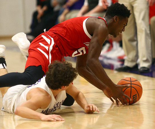 2-17-17<br /> Northwestern defeats Twin Lakes 56-48 for the Hoosier Conference Championship<br /> TL's Kris Goodlow gets control of a loose ball.<br /> Kelly Lafferty Gerber | Kokomo Tribune