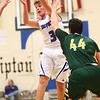 2-7-17<br /> Tipton vs Eastern boys basketball<br /> Tipton's Grant Shively throws a pass.<br /> Kelly Lafferty Gerber | Kokomo Tribune