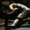 2-4-17<br /> Regional wrestling<br /> Western's Hunter Cottinghman and Marion's Jaylon Gibson in the 126.<br /> Kelly Lafferty Gerber | Kokomo Tribune