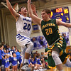 2-7-17<br /> Tipton vs Eastern boys basketball<br /> Tipton's Kellen Woods puts up a shot.<br /> Kelly Lafferty Gerber | Kokomo Tribune