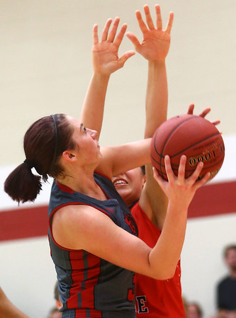 2-22-17<br /> IUK vs Rio Grande girls basketball<br /> IUK's Abby Scott goes up for a shot.<br /> Kelly Lafferty Gerber | Kokomo Tribune