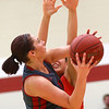 2-22-17<br /> IUK vs Rio Grande girls basketball<br /> IUK's Abby Scott goes up for a shot.<br /> Kelly Lafferty Gerber | Kokomo Tribune