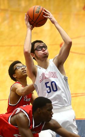 2-10-17<br /> Kokomo vs Richmond boys basketball<br /> Kokomo's Nate Hemmerich shoots.<br /> Kelly Lafferty Gerber | Kokomo Tribune